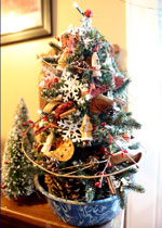 Variety of tree decorations